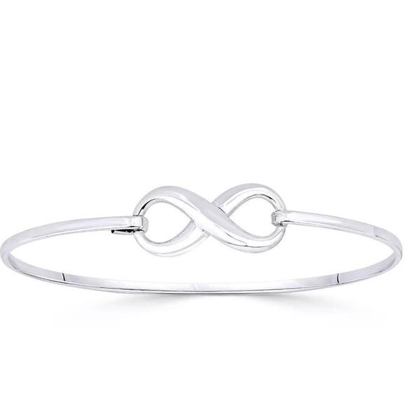 Jewelry Infinity Symbol Sterling Silver Bangle Bracelet Poshmark